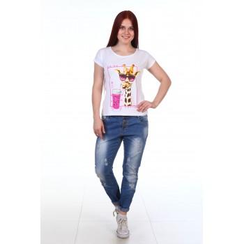 Футболка женская  Жираф