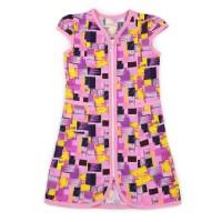 Халат для девочки Абстракция - фиолетовый