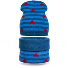 Комплект шапка и шарф Полоса