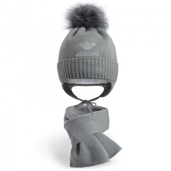 Комплект шапка и шарф для мальчика