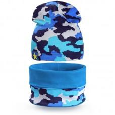 Комплект шапка и шарф снуд для мальчика