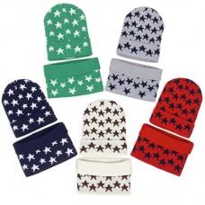 Комплект шапка и шарф вязанный