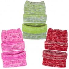 Комплект шапка и шарф вязанный Ушки