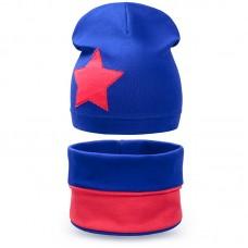 Комплект шапка шарф снуд для мальчика Звезда