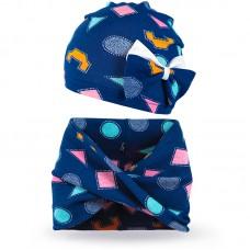Комплект шарф и шапка для девочки Фигуры