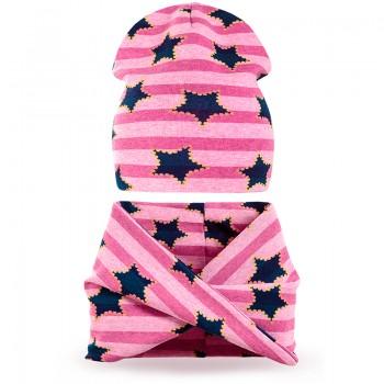 Комплект шарф хомут и шапка для девочки Юлия