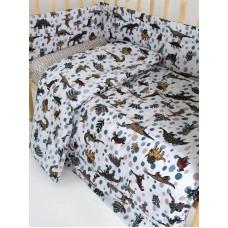 Набор в детскую кроватку Динозаврик