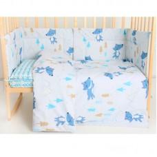 Набор в детскую кроватку Волки в елках