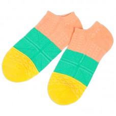 Носки для девочки Трехцветные укороченные (эконом)