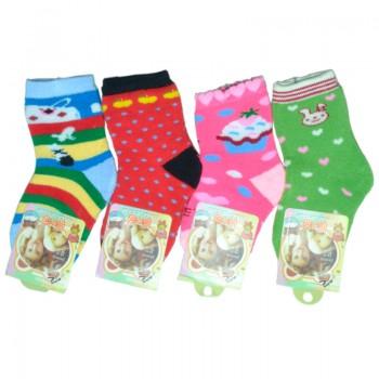 Носки для девочки махровые Ассорти (эконом)