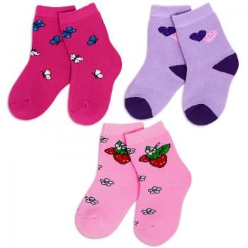 Носки для девочки махровые Лужок
