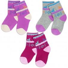 Носки для девочки махровые Олененок