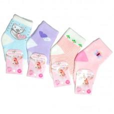 Носки ясельные для девочки Махровые с тормозами (эконом)