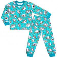 Пижама для девочки Акварель-Бирюза