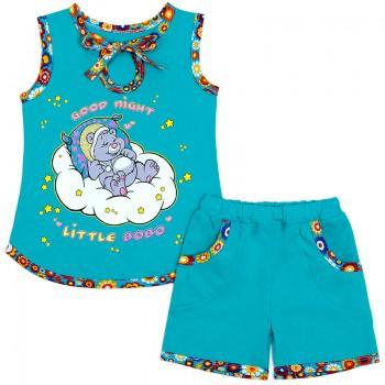Пижама для девочки Спящий мишка