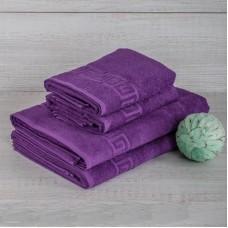 Полотенце махровое Фиолетовое