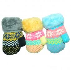 Варежки для девочки Снежинка (эконом)