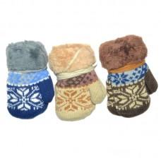 Варежки для мальчика Снежинка (эконом)